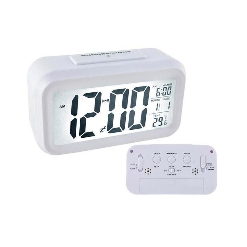 Finestdeals Ρολόι - Ξυπνητήρι με Οθόνη LED Χρώματος Λευκό 6484 b62704e9d9e
