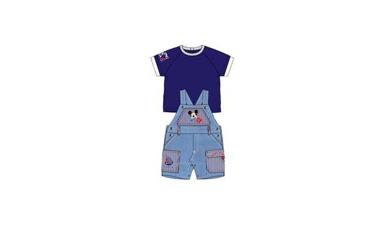 Βρεφικό Σετ Μπλούζα - Σαλοπέτα Χρώματος Μπλε Mickey Disney AQE0018 7973713b66f